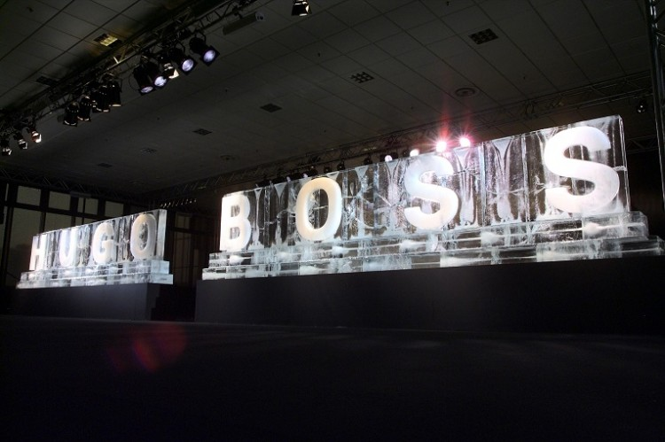 Eislogo - Referenz - Funk Ice Art - Hugo Boss